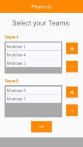 App Teamzuteilung